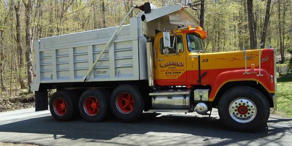 Dump truck used for excavation work