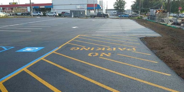 A picture of a completed parking lot in allentown pennsyslvania