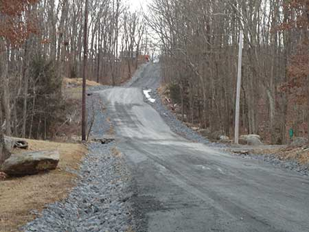 A Picture of the repair to a community road in East Stroudsburg