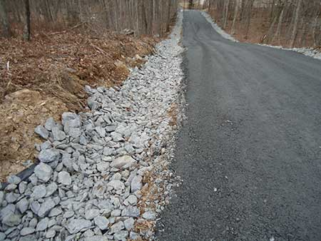 A picture of the completed second section of a community road in East Stroudsburg