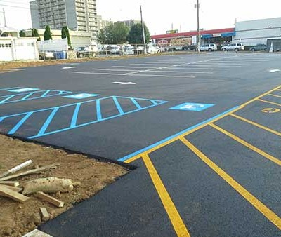 A Picture of the larger parking lot installed
